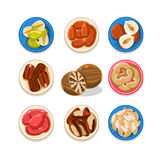 Nut Icon Set Vector Illustration Stock Images