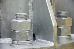 Nut metal. Silver nut metal close up Stock Image