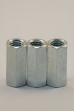 Nut. Metal thread bolt galvanized Stock Photography