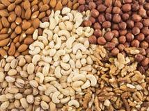 Nut mix background Stock Images