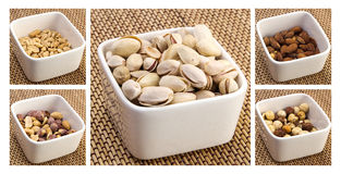Nut mix collage Stock Photography