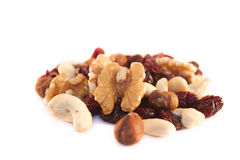Nut mix with cranberries Stock Photography