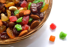 Nut mix and dried fruit Royalty Free Stock Image