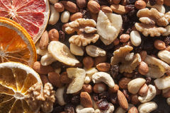 Nut mix and dry fruits Royalty Free Stock Photos