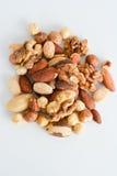 Nut mix isolated on white background Royalty Free Stock Images