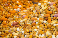 Nut mix pattern Stock Images