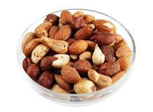 Nut mix in plate Stock Photography