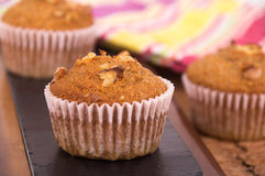 Nut muffin cake Royalty Free Stock Photos