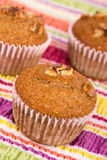 Nut muffin cake Royalty Free Stock Images