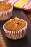 Nut muffin cake Royalty Free Stock Photography