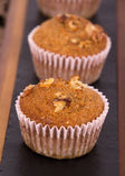 Nut muffin cake Stock Image