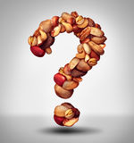 Nut Question Royalty Free Stock Photo