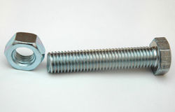 Nut and screw Stock Photography