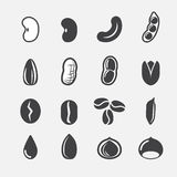 Nut and seed icon Stock Image
