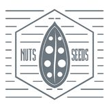 Nut and seed logo, vintage style Stock Photography