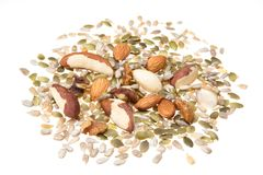Nut and seed selection Stock Image