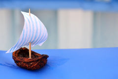 Nut Shell Sailing Boat Stock Images