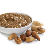 Nut Spread. Made with cashews, almonds and brazil nuts Royalty Free Stock Images