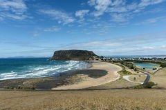 The Nut Stanley Northwest Tasmania. N coastal town from Highfield. Copyspace Royalty Free Stock Photography