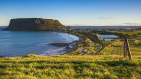 The Nut at Stanley. A panorama of Stanley and The Nut in Tasmania Stock Images