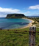 The Nut Stanley Tasmania ocean view from a hill Australia Royalty Free Stock Image