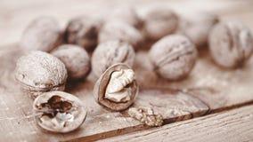 Nut still life. Stock Photos