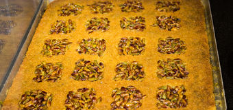 Nut stuffed dessert of mini size cuisine Stock Image