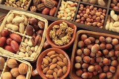 Nut types Stock Photos