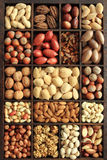 Nut types Stock Photos