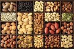 Nut varieties Royalty Free Stock Photos