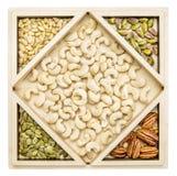 Nut variety abstract Stock Photos
