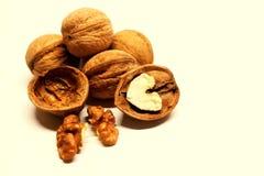 Nut. Walnut. Nut kernels. Nut shell. A useful product. Caloric product. Ingridiidt for baking, salad, snacks. Nuts. Walnuts. Nut kernels. Nut shell. Chopped stock images