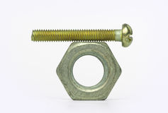 Nut and wrong bolt Stock Image