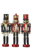 Nutcracker. Soldier in white background Royalty Free Stock Photography