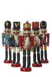 Nutcracker. Soldier in white background Royalty Free Stock Images