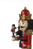 Nutcracker. Soldier in white background Stock Photos