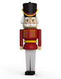 Nutcracker. Toy soldier  on white Royalty Free Stock Image
