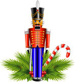 Nutcracker. With Christmas decoration. EPS 10 Royalty Free Stock Photos