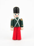 Nutcracker. On  white background, christmas decoration Royalty Free Stock Photo