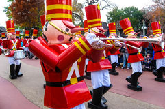 Nutcracker band in Holiday Parade Royalty Free Stock Photos