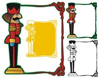 Nutcracker Border. Nutcracker soldier on an art nouveau border, with variations Stock Image