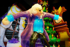 Nutcracker character statue made by ice Royalty Free Stock Images