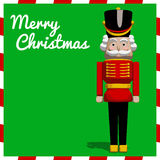 Nutcracker Christmas Soldier Toy. Nutcracker soldier toy Christmas greeting card in  format Stock Photo