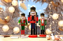 Nutcracker decorated for Christmas royalty free stock image