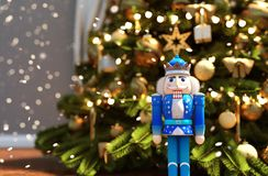 Nutcracker decorated for Christmas stock images