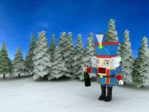 Nutcracker in the forest Royalty Free Stock Photography