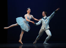 The Nutcracker-fragments. BEIJING-MAY 8: Dancers of the Czech National Theater ballet troupe perform The Nutcracker-fragments at Mei Lanfang Theatre on May 8 stock photo