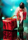 Nutcracker and giftbox Stock Photo