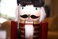 Nutcracker looking at camera Royalty Free Stock Images
