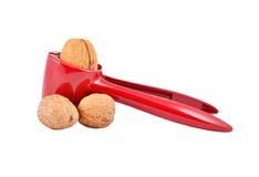 Nutcracker and nut Stock Photography